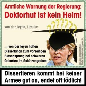von_der_leyen_ursula_warnhinweis_doktorspielchen_dissertieren_titelkampf_Propaganda_ruecktritt