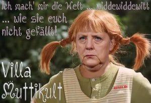 Angela Merkel Pippi Langsstrumpf ich mach mir die welt wie sie euch nicht gefaellt