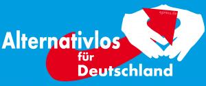 Logo Alternative fuer Deutschland AfD Angela Merkel alternativlos Landtagswahl Wahlgewinner neue Politik FeindBILD Spaltung qpress