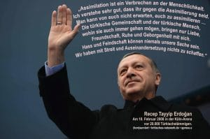 Erdogan Assimilation ist ein Verbrechen Rede in Koeln
