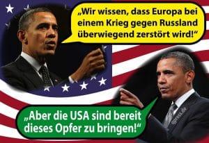 Obama und der Krieg gegen Russland