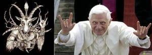Ratzinger Benedikt Benediktollah Luzifer Satan Teufel Handzeichen