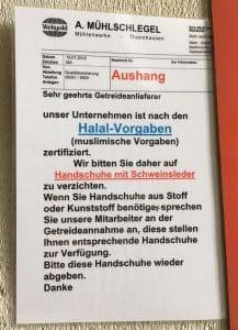 Deutsche Klingen für arabischen Halsabschneider-Markt halal im kommen deutschland produziert fuer arabischen markt