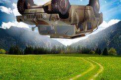 humvee droping neue Kriegslist der US armee Fahrzeugabwurf