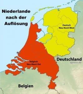 EU zerschlägt Niederlande wegen erwiesenem Demokratie Missbrauch niederlande_nach_der_teilung_old_netherlands_relief_location_map