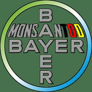 BAYER will den monetären MonsanTOD sterben Bayer Monsanto Logo nach Fusion bervrechersyndikat giftmischer Todmacher Chemie riesen