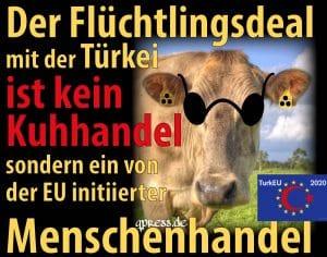 EU setzt neue Maßstäbe im Flüchtlingsmarkt, 250.000 Euro pro Kopf Fluechtlingsdeal mit Tuerkei war kein Kuhhandel sondern legalisierter Menschenhandel