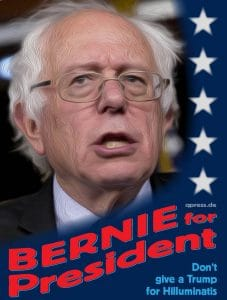 Bernie Sanders for President die Alternative fuer Trump 2016 Wahl USA Scheindemokratie-01