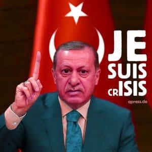 Türkei wird Todesstrafe nach EU Norm einführen Erdogan-je-suis-crisis-despot-diktator-Machtmensch