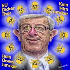 Jean-clown-claude-juncker-EU-kommission-diktator-kein-hirn-machtanspruch-Diktatur-dicker-thor-Eeuropa-Missbrauch