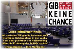 """Bundestag sollte Diäten """"Schmerzensgeld"""" nennen"""