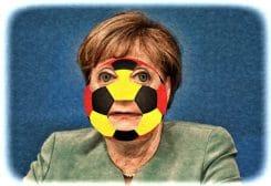 Angela Merkel mit Deutschlandallergie Verbot der Nazionalmannschaft Fussbal EM 2016 Europameisterschaft
