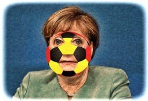 Merkel entschuldigt sich Angela mit Deutschlandallergie Verbot der Nazionalmannschaft Fussbal EM 2016 Europameisterschaft