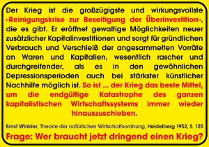 Ernst Winkler Krieg zur Beseitigung von Ueberinvestition