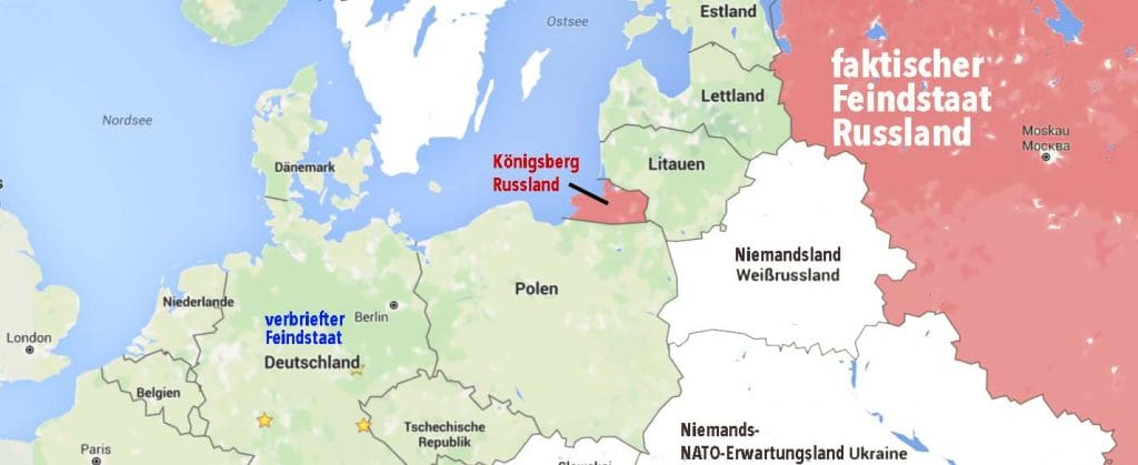 NATO-Gebiet Koenigsberg Russland Nato Feindstaat Aufruestung Kriegstreiberei Destabilisierung qpress
