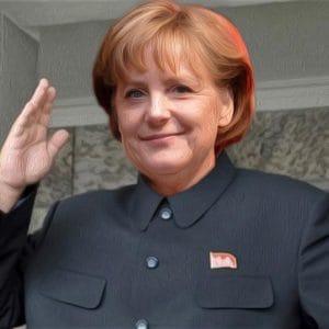 Angela Jong-un Merkel Kim die wir schaffen das Despotin Fuehrer