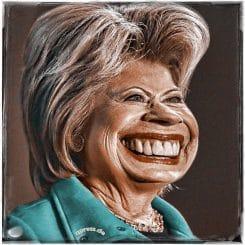 Hillary Clinton puppet doll Sprechpuppe wahnsinnig krank virtuell ersatz