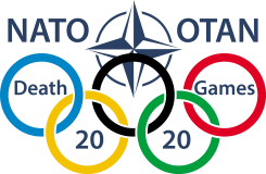 NATO_Olympic_Games_Rings_Missbrauch_Brot_Spiele