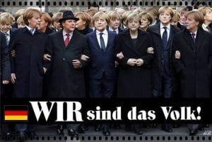 Merkel erklärt warum nur sie Kanzler|in werden kann wir-sind-ich-bin-das-volk-angela-merkel-alias-im-erika-aka-hells-angela-paris-solidaritaet-anschlag-terror-allmacht-kanzlerin-amtszeit-vierte-legislaturperiode-deutschland-cdu-grosse-koalition
