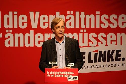 Die Linke - mit  halber Quadriga gegen Muttis vierte Amtszeit