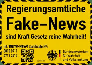 Regierungs- und Parteimitteilungen per Gesetz von Fake-News ausgenommen