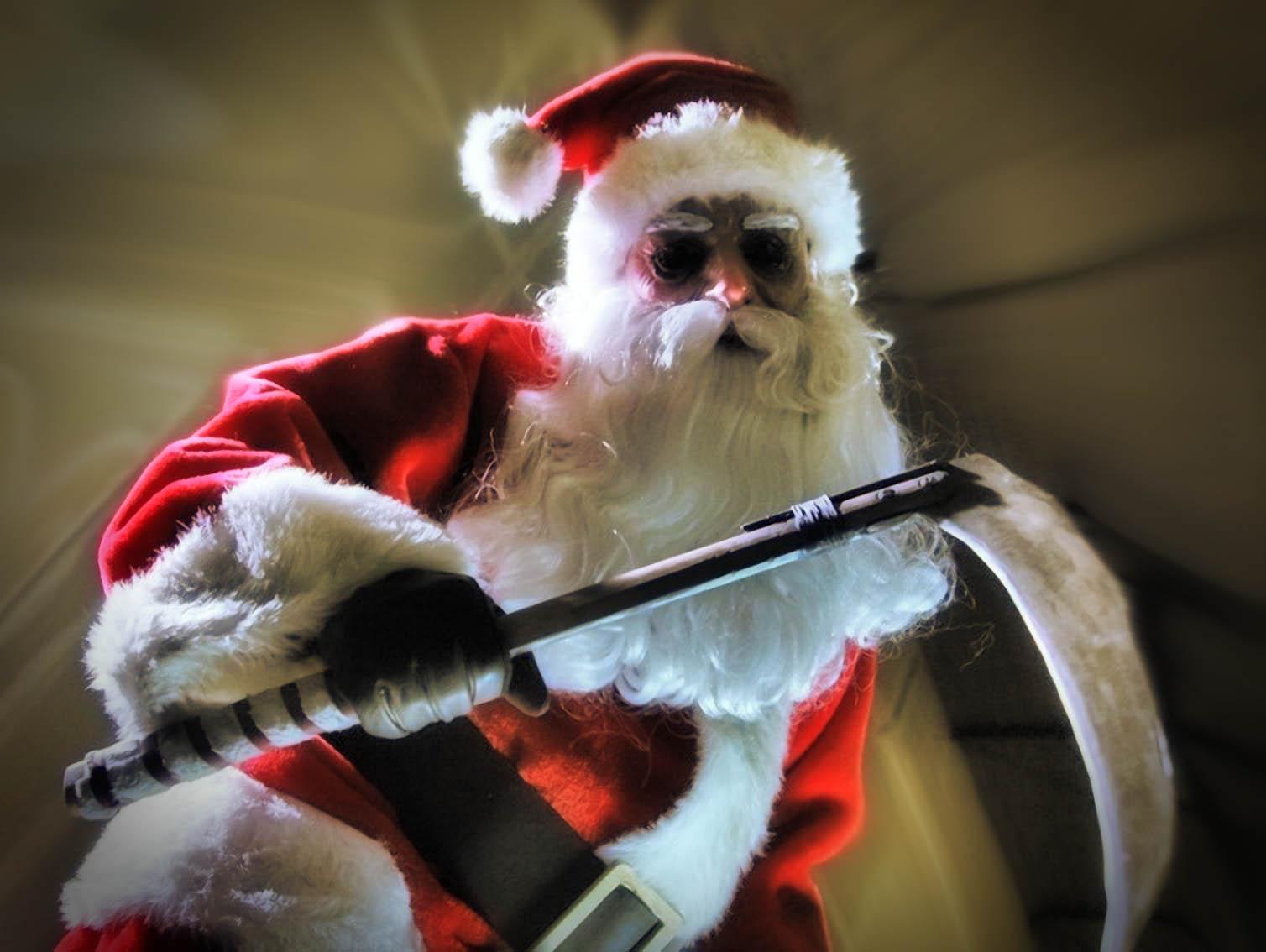 Weihnachtsmann Sensenmann Gevatter Tod Sterblichkeit Weihnachten ...