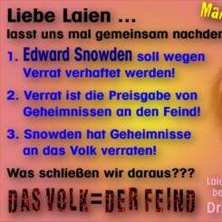 Das Volk, der Feind Manni sepzial Snowden Verrat Geheimnisse vertrauliche Nachrichten