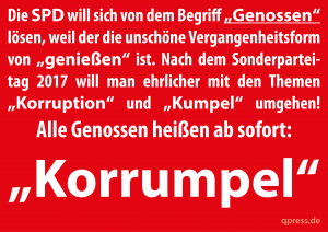 Pöbel-Ralle und Korrumpel wollen SPD neu erfinden