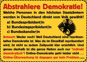 Demokratie in Gefahr - die ideologische Abrissbirne