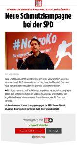 BILD entdeckt SPD-Leiche als idealen Werbeträger
