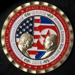 Verwendung der Trump-Kim Gipfel-Gedenkmünze
