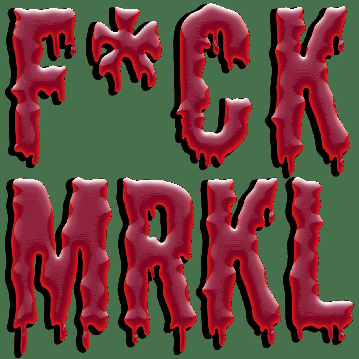 Merkel Muss Weg Schriftzug Fck Mrkl Qpress