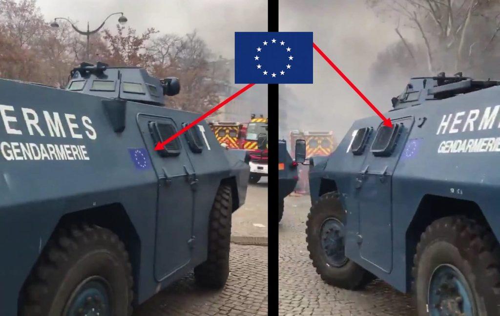 EU zeigt Flagge bei Bürgerbekämpfung in Frankreich