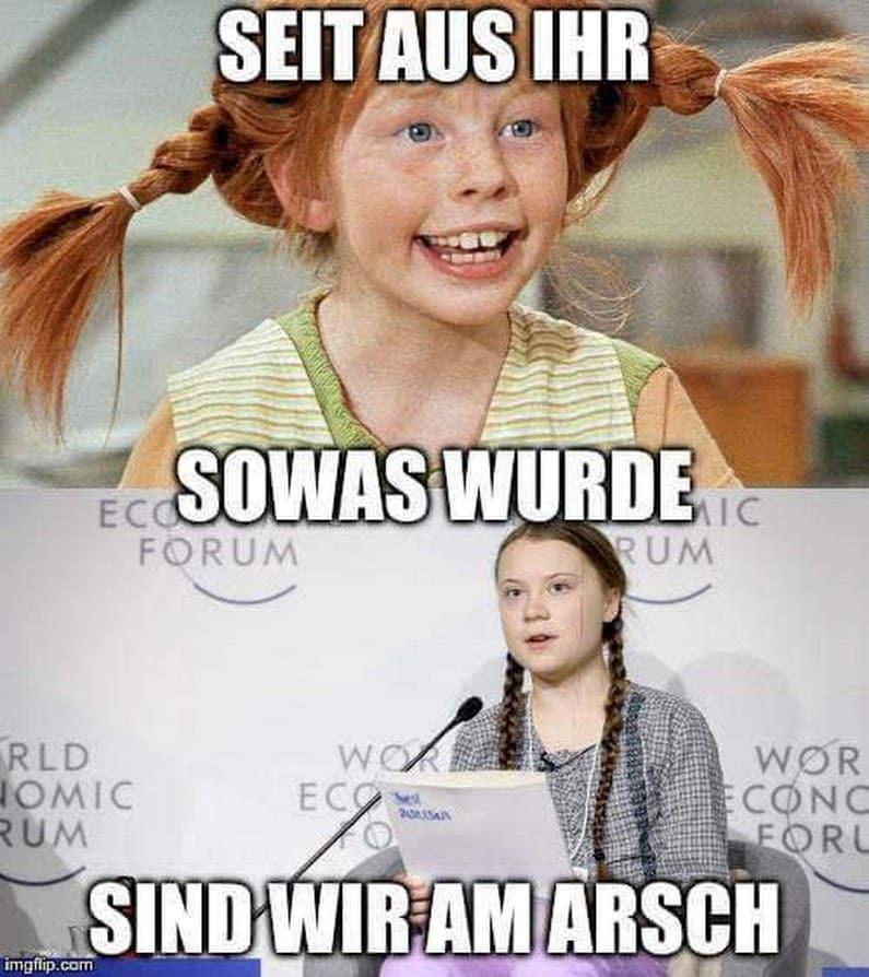 Greta Thunberg Und Pipi Langstrumpf Im Vergleich Qpress