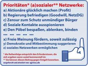 """Asoziale Netzwerke: """"Nur wer bezahlt ist sozial"""""""