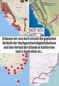 Trassenpläne für Buschfeuer