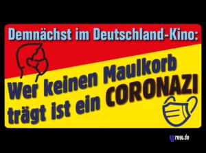 Michels korrekte Corona-Einkaufs-Führer-Mütze
